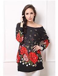 Temperamento Roses Fat MM Mostrar Thin vestido de las mujeres