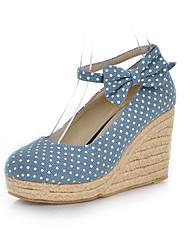 Segeltuch-Frauen Keilabsatz Wedges Pumps / Absatz-Schuhe (weitere Farben)