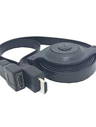 5 pi rétractable de 1,5 m HDMI haute vitesse de 1,4 mâle au câble d'extension vidéo HDTV femelle soutient ethernet 3D et audio Livraison gratuite