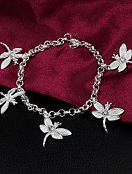 High Quality Sweet Silver Silver-Plated With Dragonflies Charm Bracelets