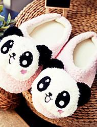 Cute Pink Schöne Panda Wolle Frauen Slide Slipper