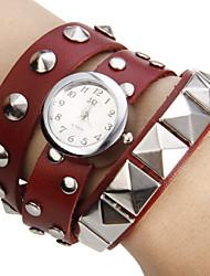 Damen Quartz Band Armband Schwarz / Weiß / Rot / Orange / Braun