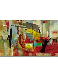 iarts®hand gemalte Ölgemälde abstrakten Stadt mit gestreckten Rahmen