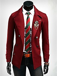 Men's Metal Buckle Design Suit
