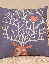 Coussin décoratif Motif mignon Cartton orange Elk avec insert