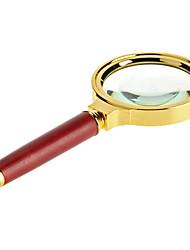 Усиление 8X 60mm Оптический увеличительное стекло ручной Чтение лупы