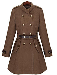 Women's Stand Long Trench Coat