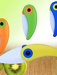 Lovely Bird Shape Mini Ceramic Folding Knife, 2 Inch