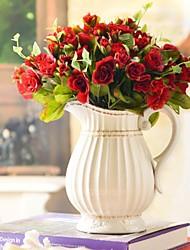 """15 """"H rosas en florero de cerámica"""