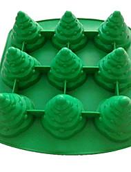 Árbol de Navidad en forma de herramientas de la hornada del silicón del molde de la torta que adorna
