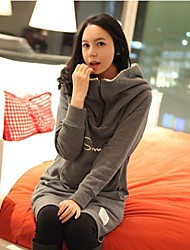 Autumn and Winter Warm Maternity Clothing Top Sweater Thickening Large and Long Design