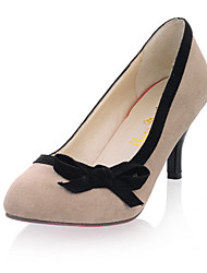 Suede Women's Stiletto Heel Heels Pumps/Heels Shoes with Bowknot(More Colors)