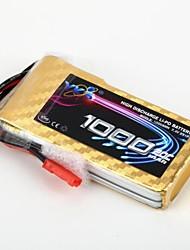 YKS 7.4V 1000mAh 2S 20C Li-Po Battery (JST Plug)