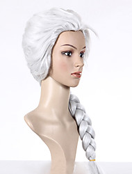 Frozen Snow Queen Princess Elsa White Cosplay Wig