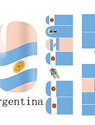 2x14PCS Аргентина Кубок мира Pattern Nail Art Наклейки