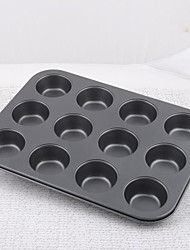 Iron Snowflakes Non-stick Twelve Even Cake Bakeware Mould Set of 1 Piece,35x26x3cm