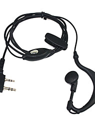 New 2 Pin Earpiece Headset For Quansheng Puxing Tyt Baofeng Uv5R 888S Kenwood Th Radio Cheap Hi-Quality Black