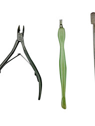 3PCS Manicure Kits(Cuticle Nipper Cutter & Pusher & Spoon Cuticle Pusher)