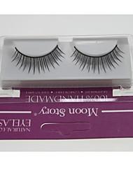 1 Pair Pro High Quality Hand Made Synthetic Fiber Hair Thin Long Style False Eyelashes