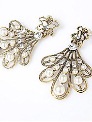 MISS U Women's Vintage Pearl Sector Earrings