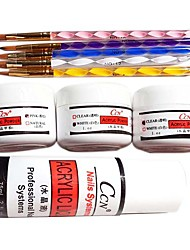 9PCS Acrylic Nail Art Suit(5 Acrylic pen&3 Arcylic Powder&Arcylic Liquid)