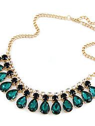Diezhilian Frauen Wunderschöne Edelstein-Halskette 40 * 16 * 3,2 cm