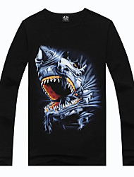 Men's Round Collar 3D Jaws Print T-shirt