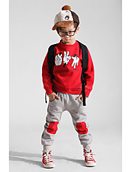 Boy's Long Sleeve Hoodie Sports Clothing Sets