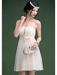Strapless Rose corto vestido de las mujeres