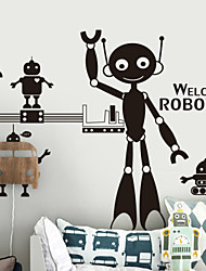 Cartoon Robots Decorative Wall Stickers
