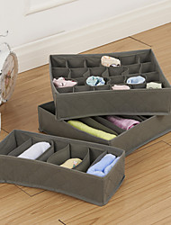 Bamboo Charcoal Cloth Sock Incorporating Folding Storage Box (3 Pack)