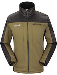 MAKINO Men's Outdoor Fleece Warm-keeping Soft Shell Camping Jacket