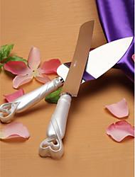 выступающей сетов свадебный торт нож блокировки hearts дизайн торта нож набор / сервер