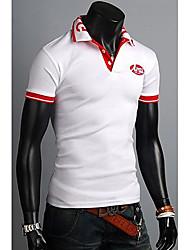 Männer Stehkragen Einfache Matching POLO T-Shirt