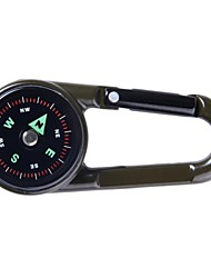High Quality Double Faced Key Chain Compass + Thermometer