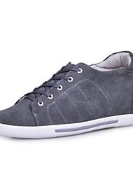 Couro salto baixo Comfort Moda Sneaker Elevador Shoes