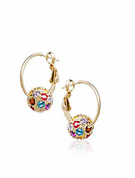 MEET YOU Colorful Drill Ear Ring
