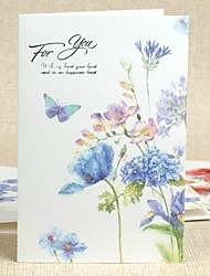 Side Floral Fold Greeting Card