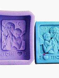 Angle and Mother Silicone Fondant Cake Mold