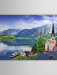 Stampa su tela artistica Paesaggio Il paesaggio di Hallstatt