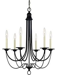 Iluminação Classic 6-Light Ferreiro Chandelier