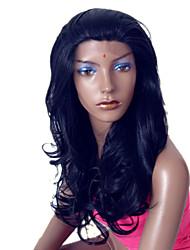 Synthetic Stylish No Bang Long Wavy Wig(Natural Black)