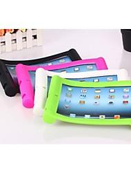 Etui en silicone de couleur unie avec support pour iPad2/3/4