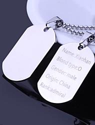 Серебро-Нержавеющая стальПерсональный подарок-Ожерелья-