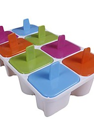 8 Cups English Characters Shapes Popcicle Moulds Tray,  Food Safe PP Material, Random Color