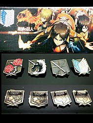 Attack on Titan  The Four Part Brooch Set Cosplay Accessory