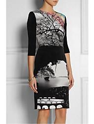 Vestido elegante de las mujeres imprime