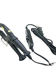 Extensões de cabelo profissionais ajustáveis Ferro Fusão queratina Calor Connector Wand Ferro Preto Plug EUA