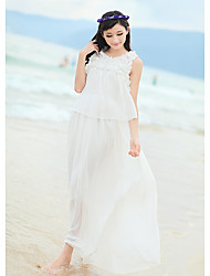 Women's Dresses , Chiffon Beach/Casual/Work Kingmany