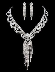 ME Vintage Luxury Austria Rhinestone Set Wedding Necklace And Earings Set T0011